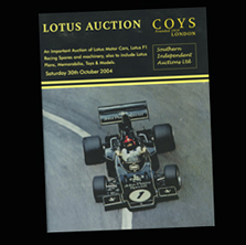 Coys Lotus Auction Catalogue