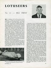 The Lotuseers  #11 - Bill Frost