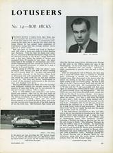 The Lotuseers  #14 - Bob Hicks