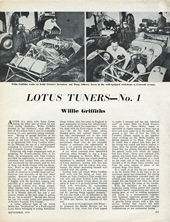 Lotus Tuners No.1 - Willie Griffiths