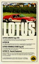 Lotus Racing Sales 1969