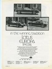 Lotus Cars USA  -1972