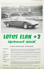 Lotus Elan +2 Special Equipment (French)