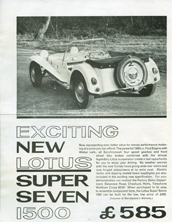 Lotus Super Seven 1500