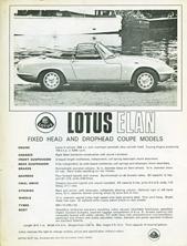 Lotus Elan fhc & dhc