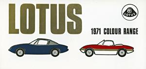 Lotus 1971 Colour Range
