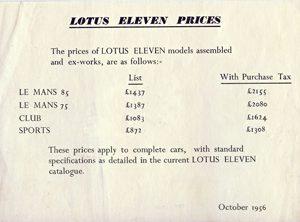 Lotus Eleven (S1)