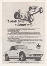 Lotus Car (Sales) Limited 1969
