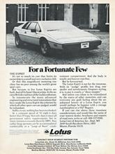 Lotus Cars USA - 1978