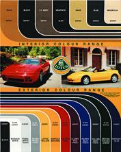 Lotus Colour Chart