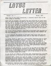 Lotus Letter