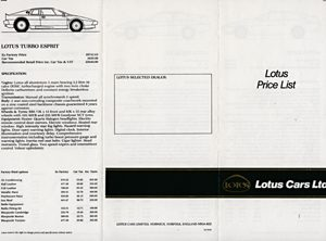 Lotus Range Price List
