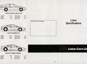 Lotus Specifications
