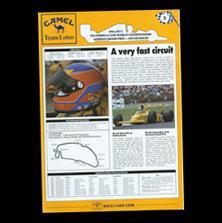 Camel Team Lotus Race Card