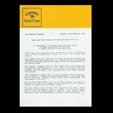 Camel Lotus Press Release
