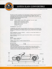 Lotus Elan Convertible (USA)
