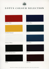 Lotus Colour Chart