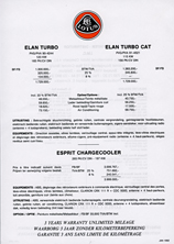 Elan Turbo & CAT