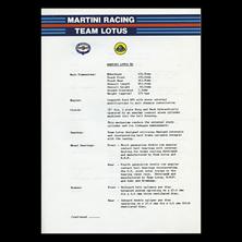 Martini Racing Team Lotus Release Type 80