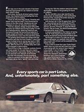 Lotus Performance Cars (USA) - 1987