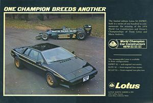 Lotus Cars USA - 1979