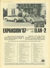 Lotus Car (Sales) Limited - 1967