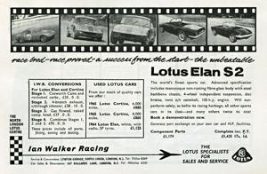 Ian Walker Racing - 1965