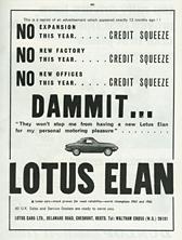 Lotus Cars Limited - 1966