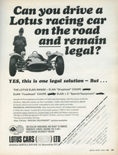 Lotus Car (Sales) Limited - 1968