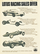 Lotus Racing Sales - 1968