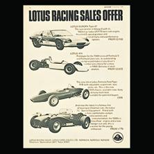 Lotus Racing Sales Advertisement