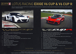 Lotus Racing Exige V6 Cup & V6 Cup R
