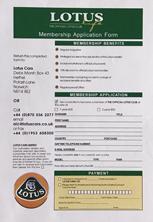 Lotus Life Membership Application