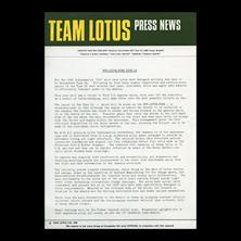 Team Lotus Press News